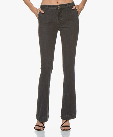 by-bar Leila Flared Jeans - Grey