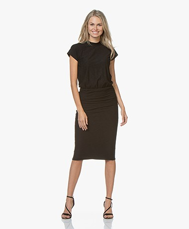 James Perse Jersey Midi T-shirt Dress - Black