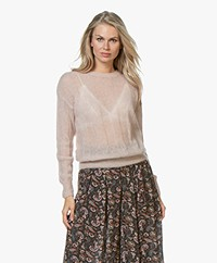 by-bar Gusto Mohair Blend Rib Pullover - Dusty Rose