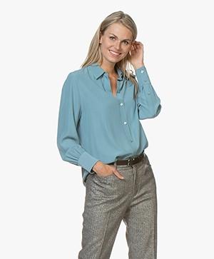 Joseph Klein Zijden Overhemdblouse - Blauw