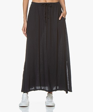 LDB Design By Cotton Jersey Maxi Skirt - Navy