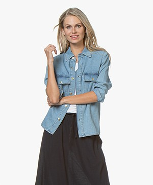 Ragdoll LA Denim Blouse - Light Blue