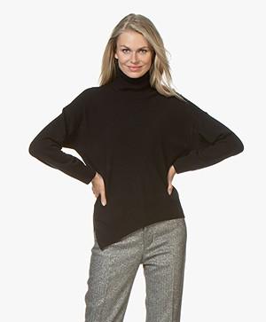 Vanessa Bruno Melanie Turtleneck Sweater with Cashmere - Zwart