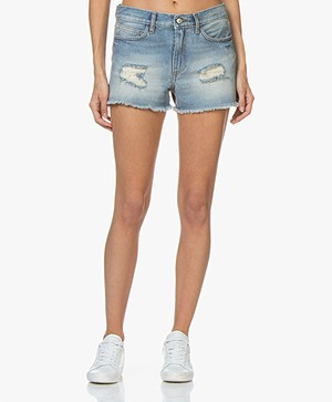Zadig & Voltaire Storm Dirty Denim Short - Blauw