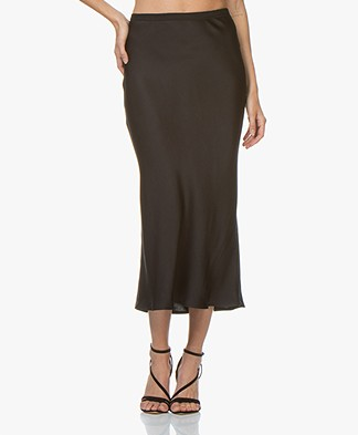 ANINE BING Bar Silk Skirt - Black