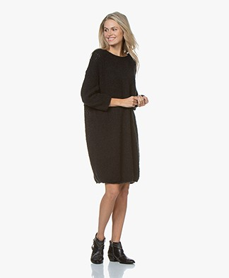 American Vintage Boolder Oversized Knitted Dress - Black