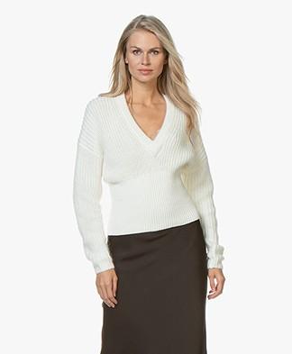 IRO Marshall Cotton-Mohair Blend Sweater - Chalk