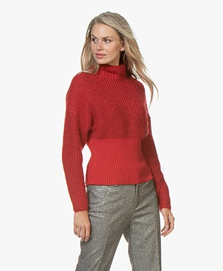 IRO Medford Chunky Knit Cotton Blend Sweater - Red