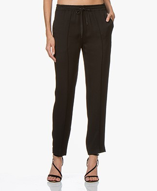 Joseph Dino Viscose Twill Pants - Black