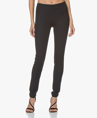 Joseph Gabardine Stretch Leggings - Navy