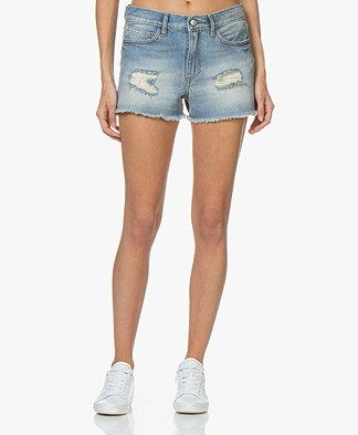Zadig & Voltaire Storm Dirty Denim Shorts - Blue