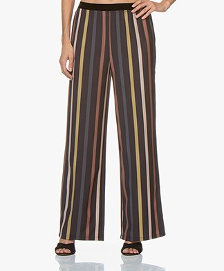 by-bar Dorris Striped Loose-fit Pants - Midnight