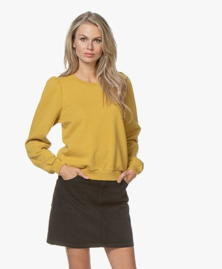 by-bar Nikki Katoenen Sweater - Mustard