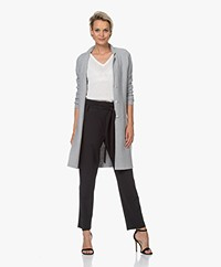 Belluna Vancouver Knee-length Cotton Cardigan - Grey Melange