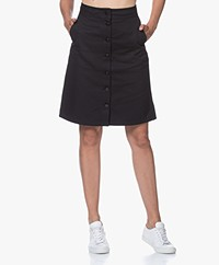 Filippa K Piper Cotton Canvas Skirt - Almost Black