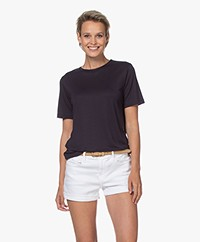 By Malene Birger Amatta Lyocell T-shirt - Night Sky