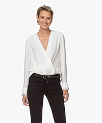 Rag & Bone Victor Silk Blouse - Off-white