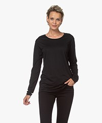 Closed Lyocell Blend Long Sleeve - Black
