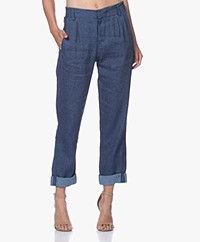 Drykorn Dispatch Linnenmix Denim Pantalon - Blauw