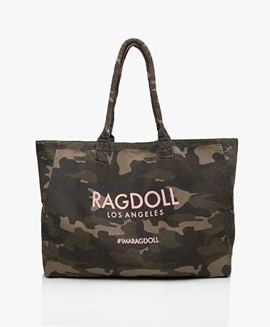 Ragdoll LA Holiday Canvas Bag - Camo Army