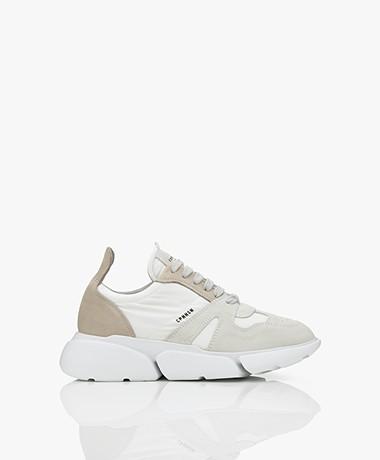 Copenhagen Studios Mixed Leather Sneakers - White/Natural