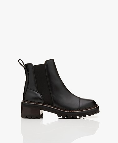 See by Chloé Leather Chelsea Boots - Black