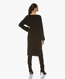 Drykorn Maurina Rib Knit Midi Dress - Black