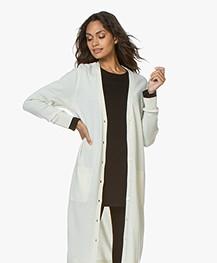 Repeat Luxury Long Pure Cashmere Cardigan - Cream