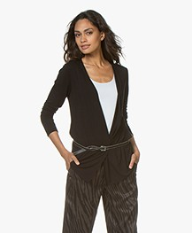 Majestic Filatures Soft Touch Jersey Vest - Zwart
