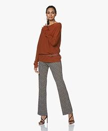 Drykorn Maila Wool Sweater - Rusty Red