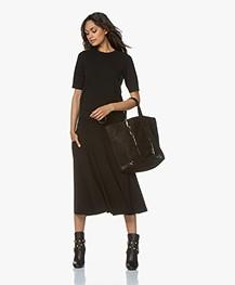 Vanessa Bruno Cabas Moyen Leather Shopper - Black