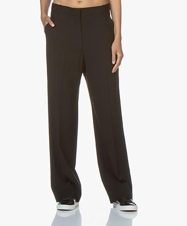 IRO Boy Loose-fit Pantalon met Rechte Pijpen - Zwart