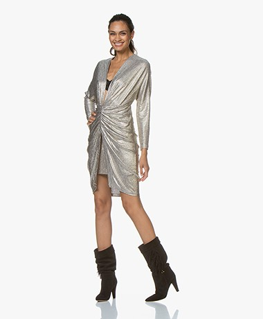 IRO Cilty Pleated Dress with Coating - Gold