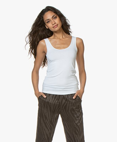 Majestic Filatures Abby Soft Touch Jersey Tanktop - Wit