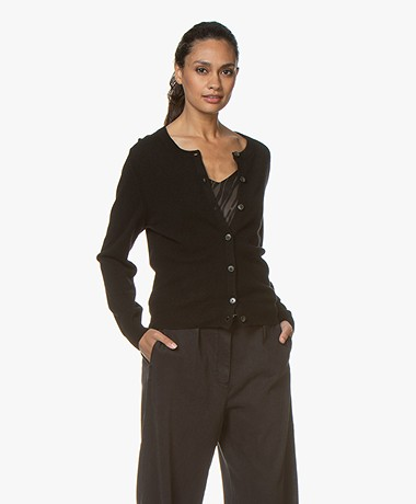 Closed Wool and Cashmere Cardigan - Black