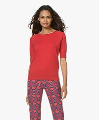 Closed Cashmere Trui met Korte Mouwen - Red Pepper