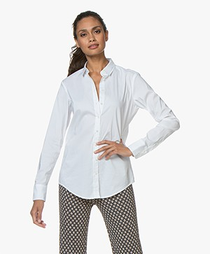 Closed Annie Katoen-stretch Blouse - Wit