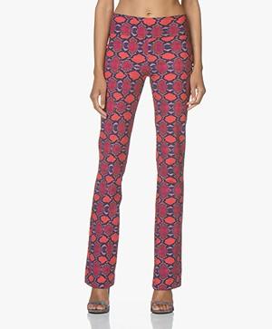 JapanTKY Yaza Flared Jersey Pants with Snake Print - Happy Snake