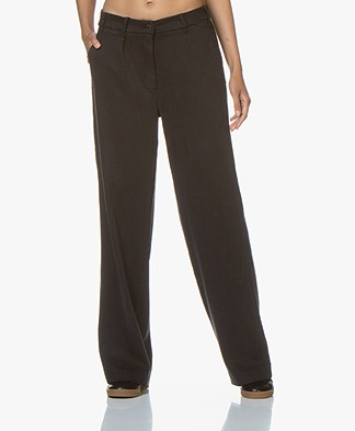ba&sh Mitch Loose-fit Pleated Twill Pants - Carbon