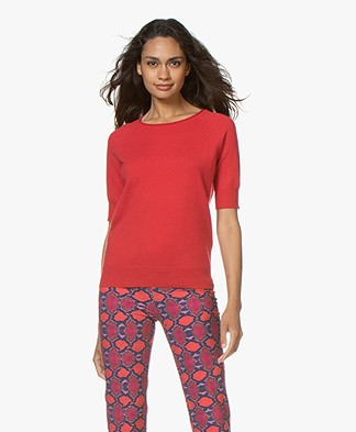 Closed Cashmere Short Sleeve Sweater - Red Pepper
