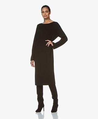 Drykorn Maurina Rib Knit Midi Dress - Black