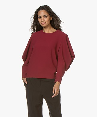 IRO Desoto Blouse with Open Bat Sleeves - Wine