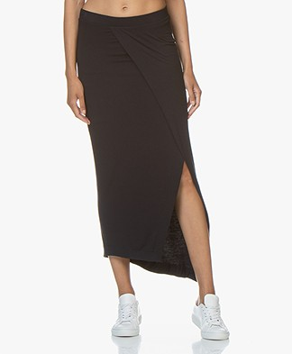 Majestic Filatures Soft Touch Jersey Skirt - Marine