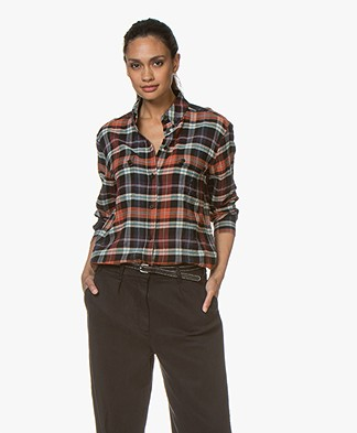 Vanessa Bruno Mars Checkered Shirt - Rouille