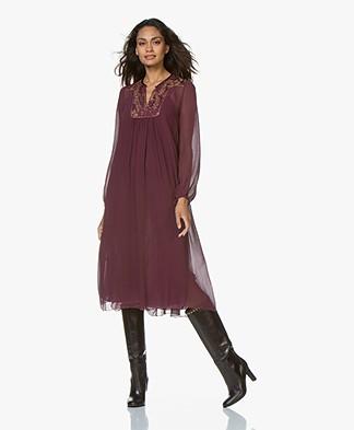 forte_forte Silk-Chiffon Dress with Lurex Detailing - Mosto