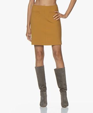 no man's land Viscose Mini Skirt - Ochre Yellow