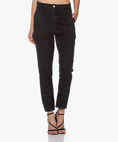 IRO Mattie High-rise Jeans - Washed Black