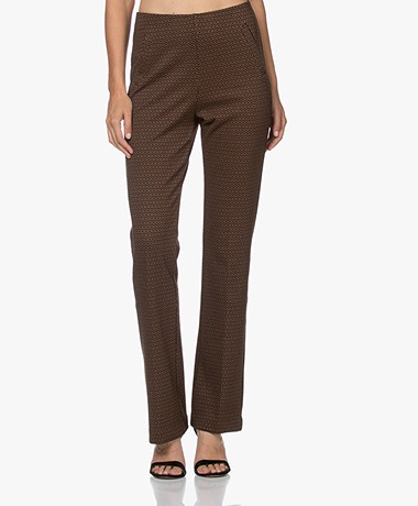 no man's land Jacquard Jersey Pants - Cognac