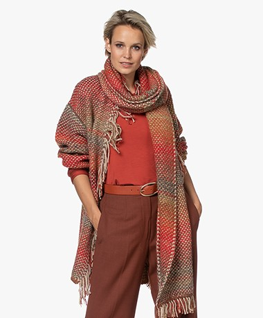 LaSalle Moss Knit Gradient Scarf - Multi-color