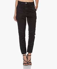 IRO Mattie High-rise Jeans - Washed Black